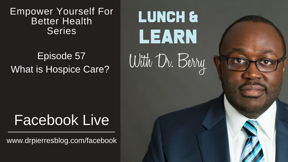 Hospice, Lunch and Learn, Dr Berry